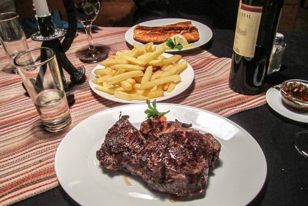 Beef Steak with Red Wine at La Maga Restaurant