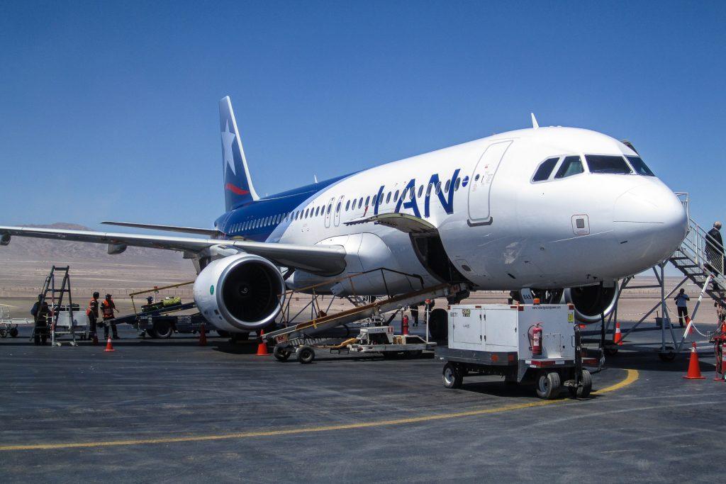 LAN Airlines Plane at Calama Airport, San Pedro de Atacama