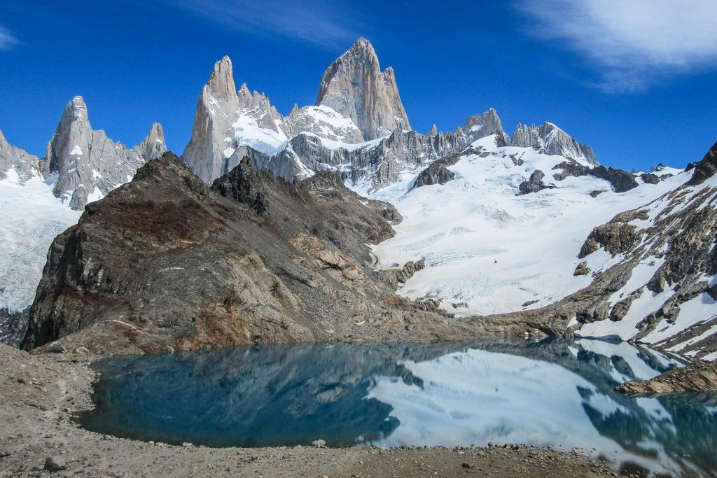 Patagonia; This is Mount Fitz Roy on the Argentina side of Patagonia, adjacent to Torres del Paine on the Chile side