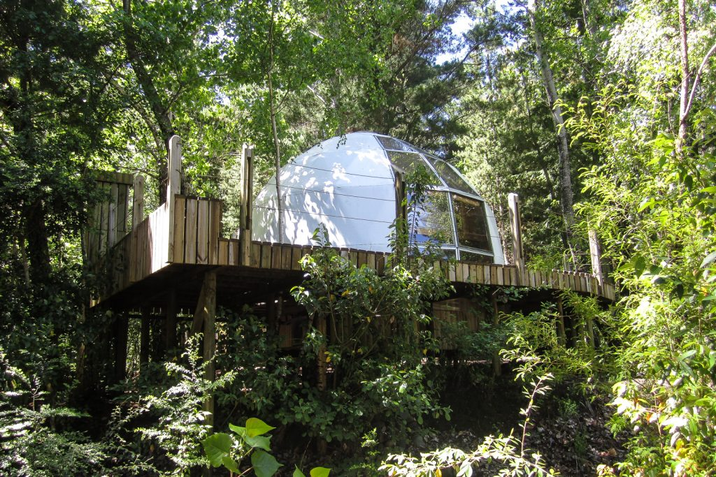 Dome bungalow at Magma Lodge, Pucon