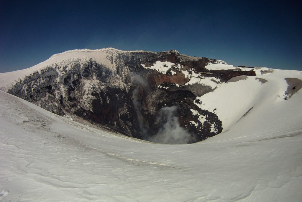 Volcan Villarrica Chile crater at summit