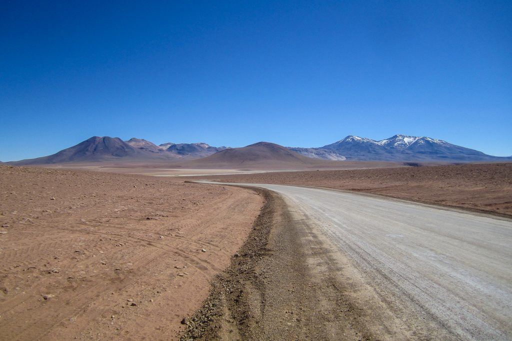 Dirt Track to the El Tatio Geysers, Atacama desert