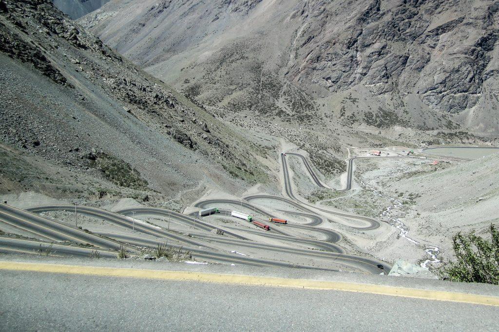 Los Caracoles Route 60, Santiago to Mendoza