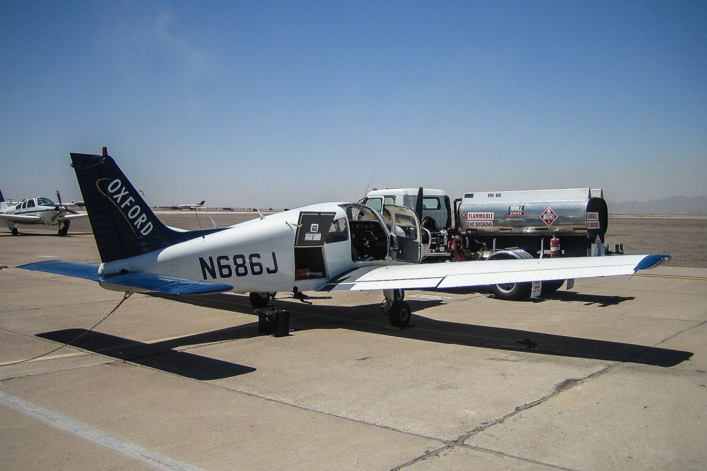 Refuelling warrior aircraft at Flight School