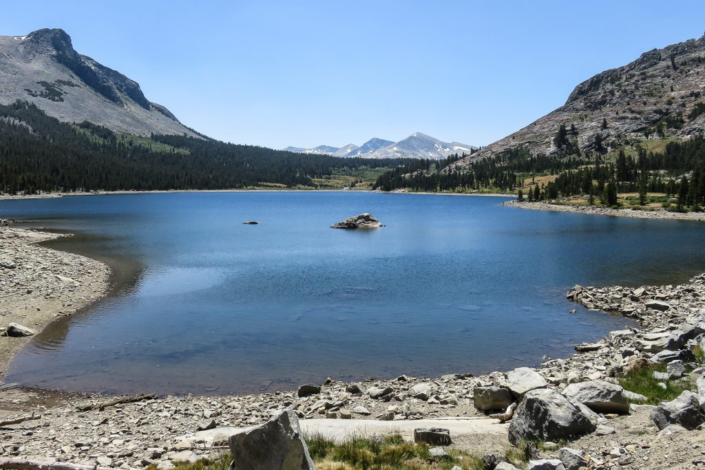 Tioga Lake at the western end of the Tioga Road
