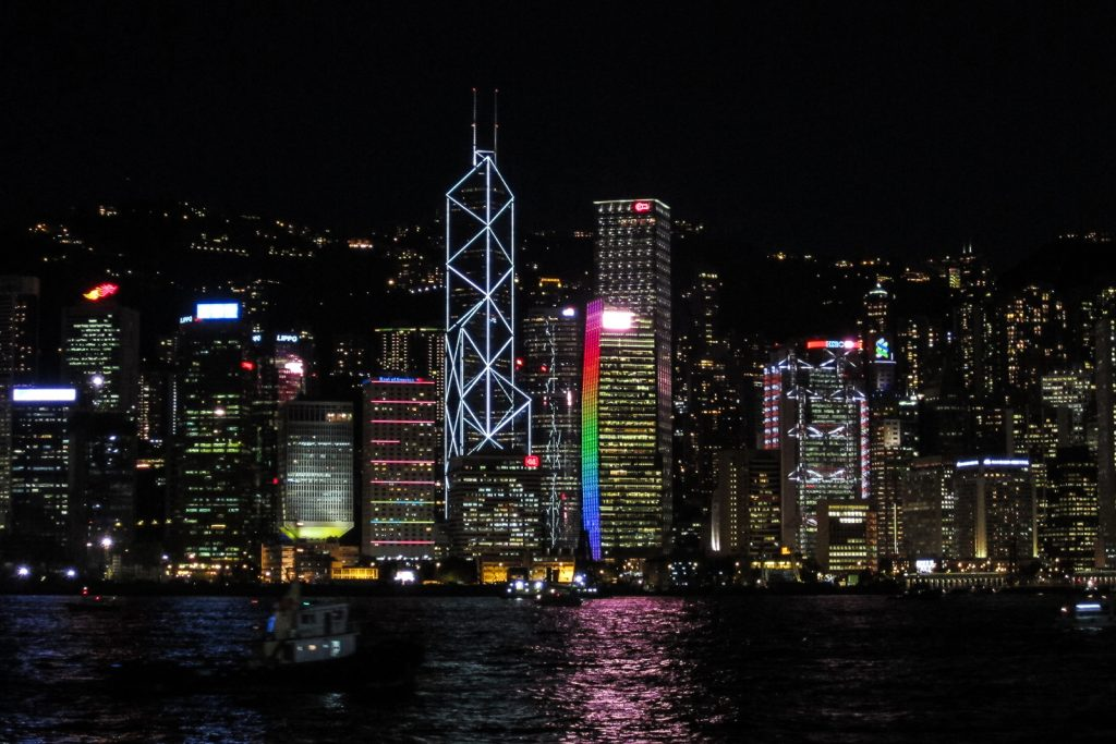 Hong Kong Light Show from tsim sha tsui Promenade. Top things to do in Hong Kong.