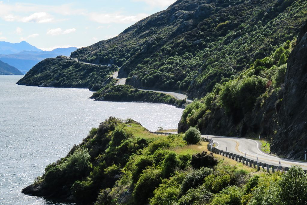 Lake Wakatipu, Te Anau to Queenstown, South Island road trip itinerary New Zealand.