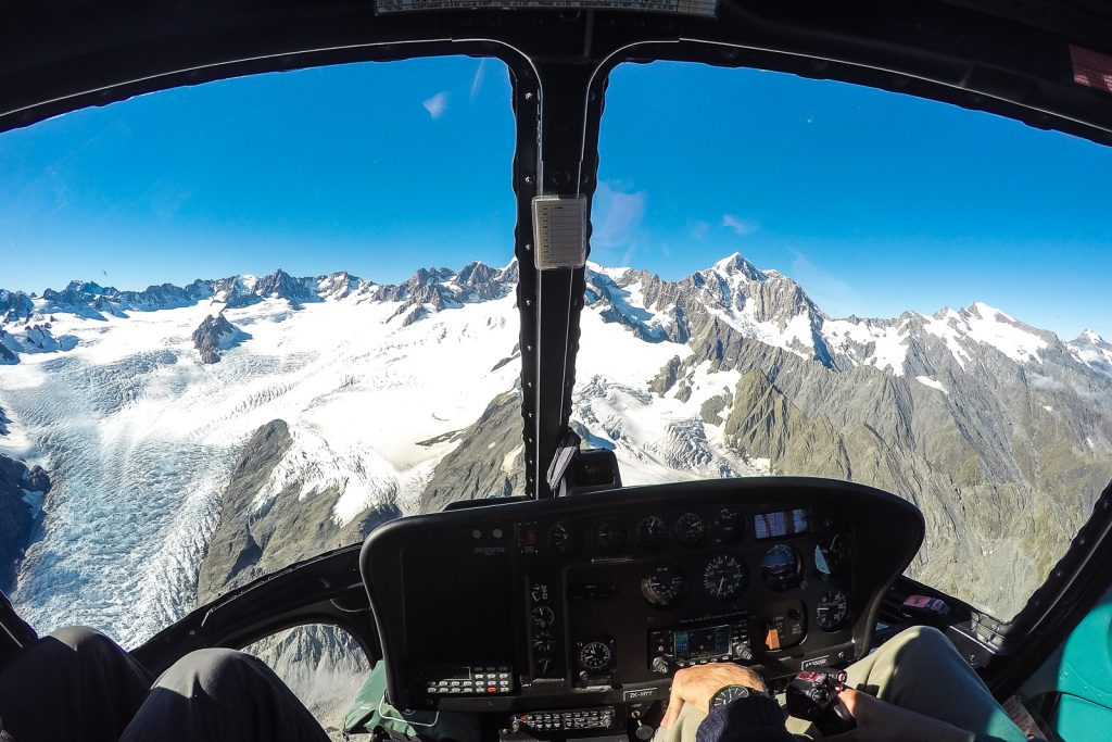 Flying to the Fox glacier with Glacier Helicopters, south island new zealand itinerary
