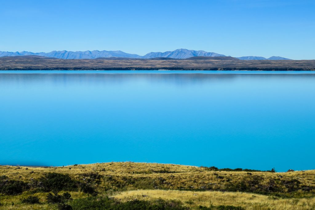 Lake Pukaki at Mount Cook National Park, Aoraki, south island new zealand itinerary