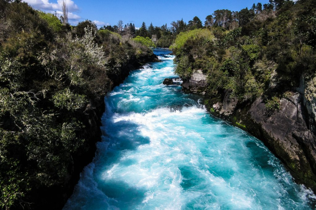 Huka Falls, Lake Taupo, planning a trip to New Zealand