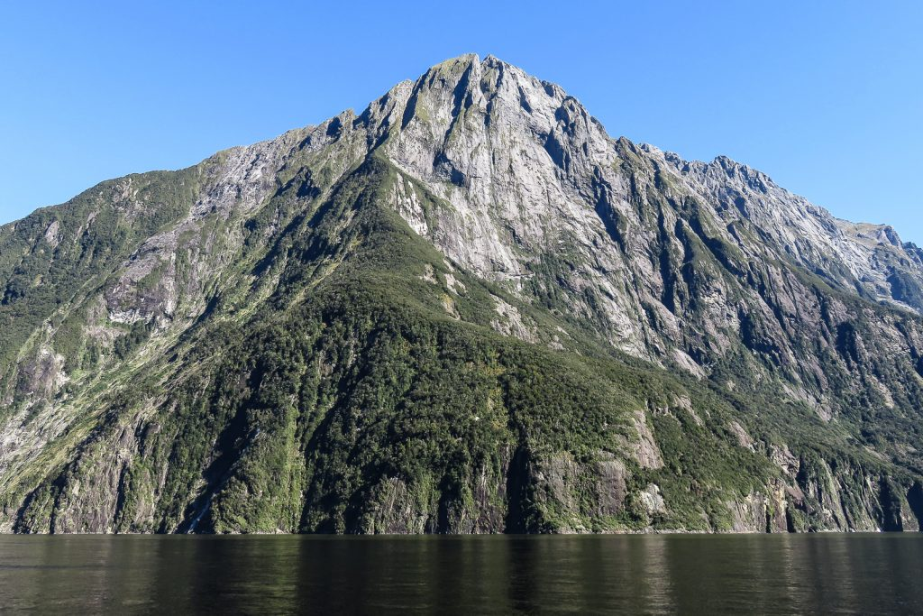 Mitre Peak, Milford Sound day trip from queenstown, fjords new zealand