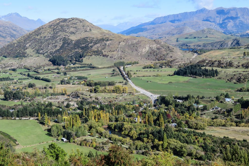 Arrowtown to Queenstown with Views of Lake Hayes from Crown Range Road viewpoint, South Island Itinerary