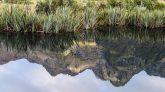 Mirror Lakes along the road from te Anau to Milford Sound through the Te Anau Downs