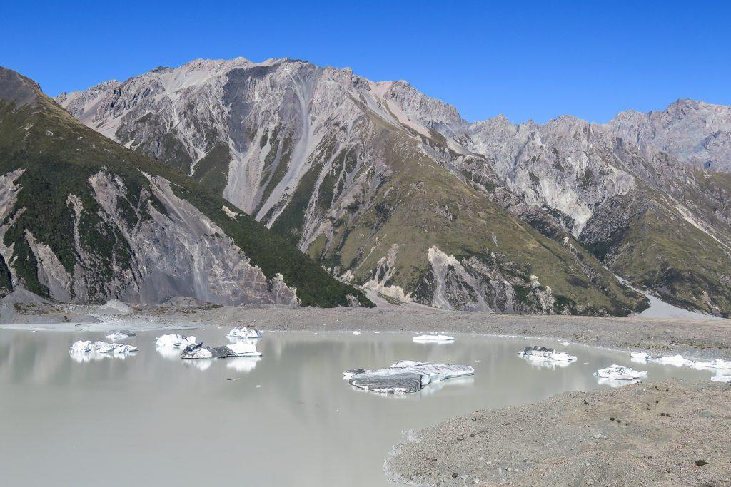 Tasman Glacier Icebergs, Mount Cook National Park, Aoraki