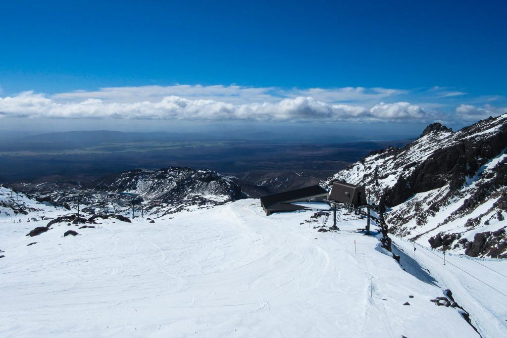 View from Whakapapa Ski Area, North Island ski fields