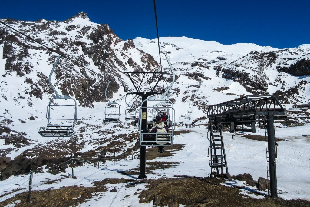 Whakapapa Ski Lift, ski resorts new zealand