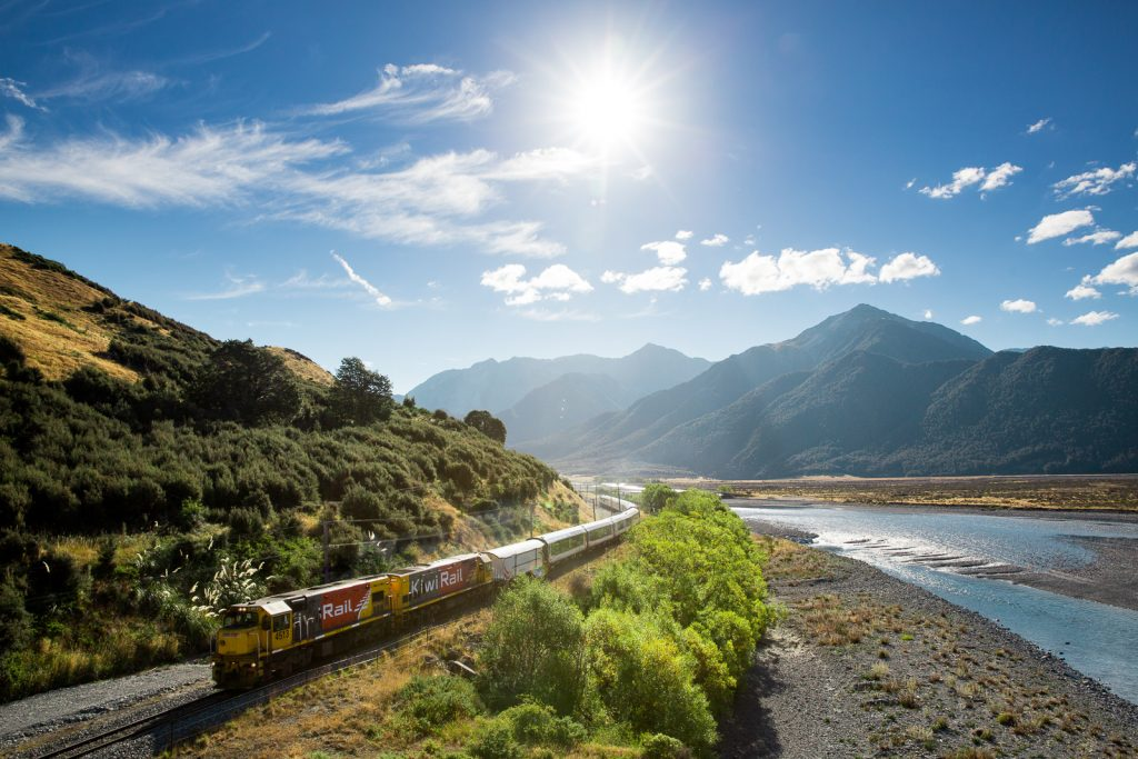Tranzalpine Crossing Arthurs Pass New Zealand By Railway