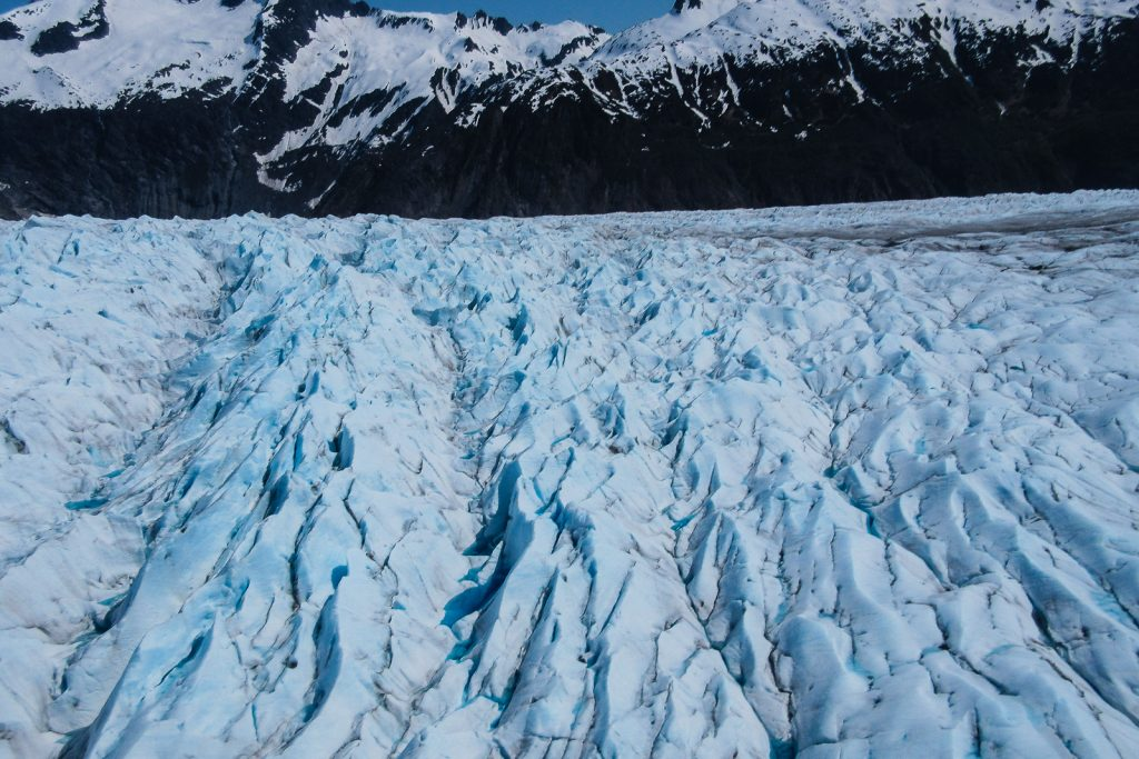 Glacier on the Juneau Icefield in Alaska USA